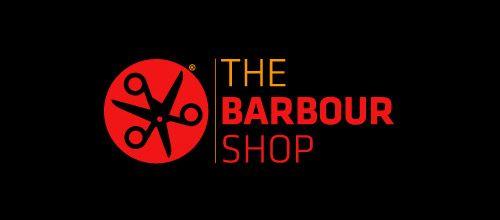 barbour shop scissors logo design