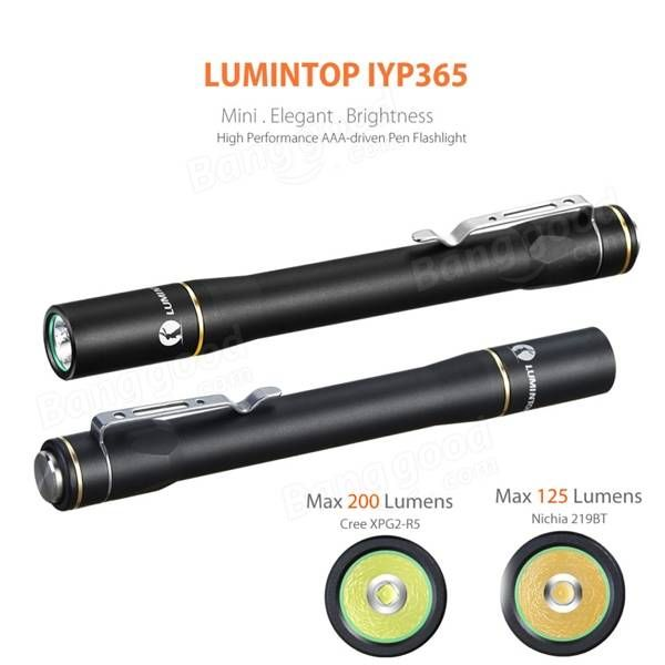 Lumintop IYP365 And Nichia AAA EDC LED Portable Pen Flashlight