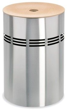 Slice Stainless Steel Laundry Bin (Small: 14 contemporary-hampers