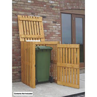 Order online at Screwfix.com. Single Wheelie Bin Store, planed timber with factory applied base coat treatment. Easy to assemble. FREE next day delivery available, free collection in 5 minutes.
