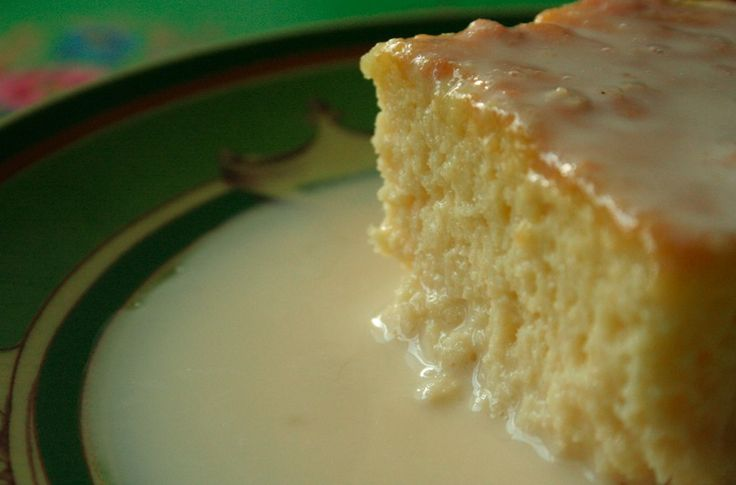 Traditional Tres Leche Cake- made this tonight, topped it whipped cream frosting... yummy factor is off the charts!