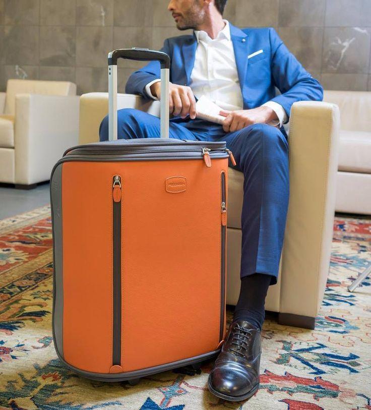 Attavanti - Giorgio Fedon 1919 Trolley Cabin Luggage - Orange Grey, £385.00 (https://www.attavanti.com/italian-leather-designer-luggage/giorgio-fedon-1919-trolley-cabin-luggage-orange-grey/)