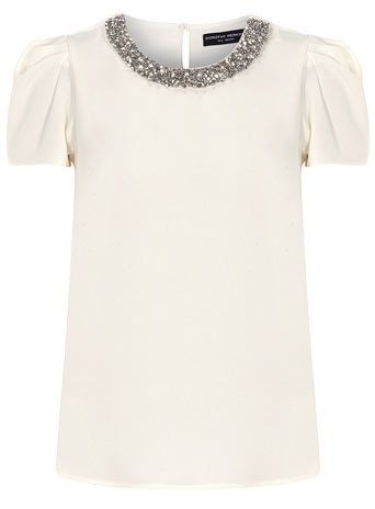 I like this embellished top and think it could be used in both dressy and casual situations.#40 Plus Style Accessories Course.