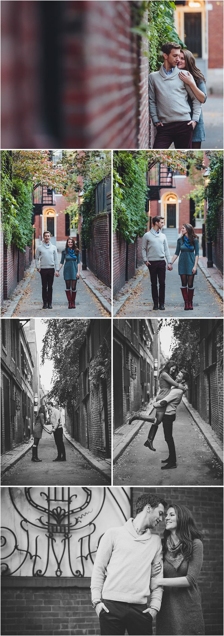 Beacon Hill Engagement Photos -- Acorn St.