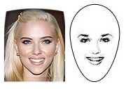 Diamond face shape    Forehead and jawline are narrow.  Cheekbones are wide and high.