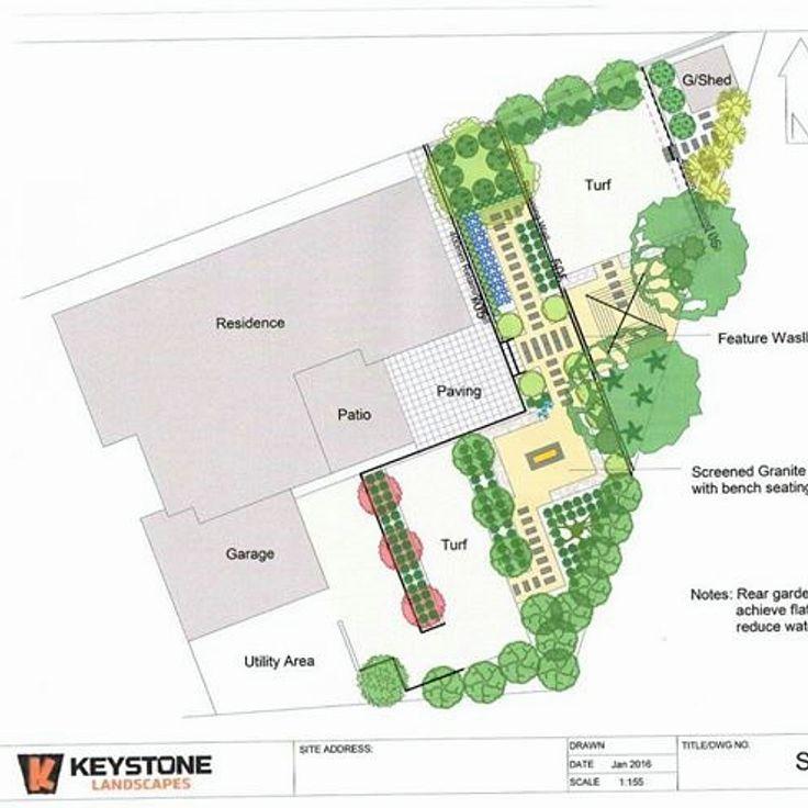 Garden Design Concept Plan by Keystone Landscapes Wagga