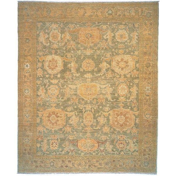 Tufenkian Artisan Carpets Sebastia Sage Oriental Rug, 2'6 x 10'6 (2,135 CAD) ❤ liked on Polyvore featuring home, rugs, asian area rugs, handmade rugs, sage area rug, oriental rugs and handmade oriental rugs