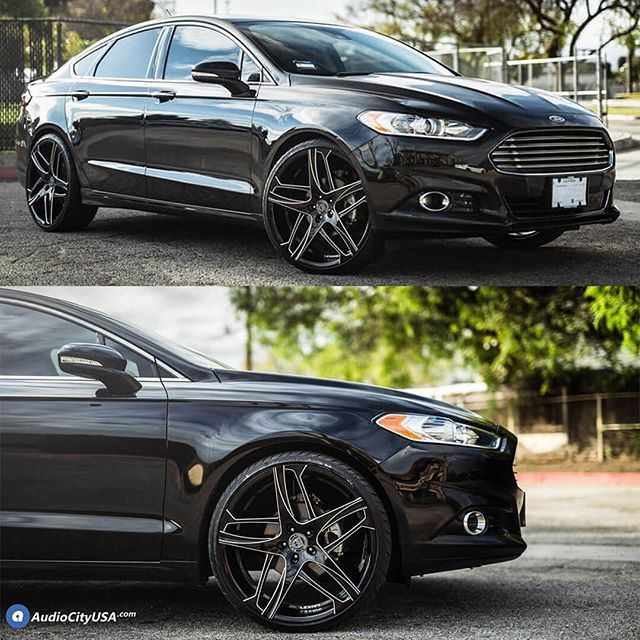Ford Fusion Wrapped On 245 30 22 Lx Nine Performance Tires From