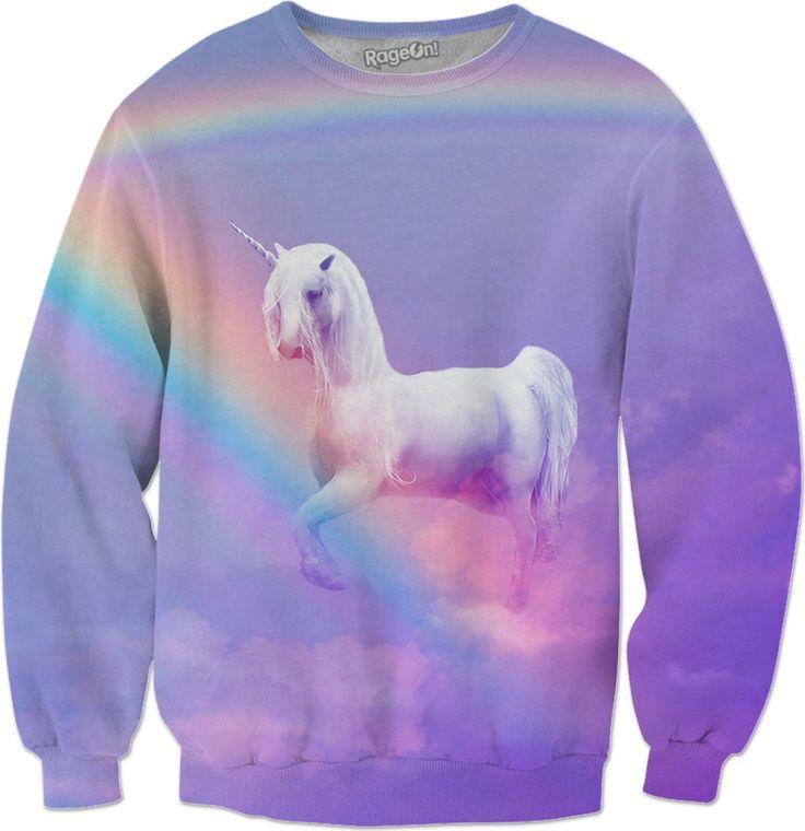Unicorn and Rainbow Sweatshirt  #rageon #erikakaisersot #sweatshirts #unicorn
