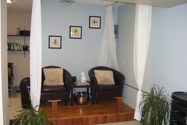 Our pedicure area at UpTown Tan Spa