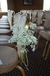 Wedding Aisle Decorations - Weddings by Monday Morning Flowers Baby's breath tied with twine. #vintage #wedding #ceremony