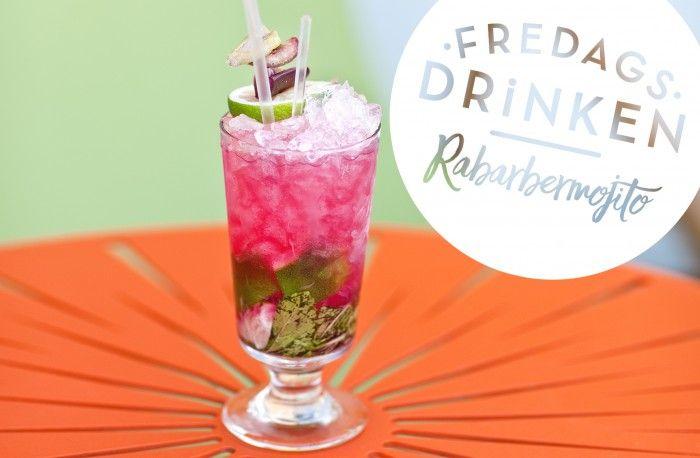Fredagsdrinken – Så gör du en Rabarbermojito