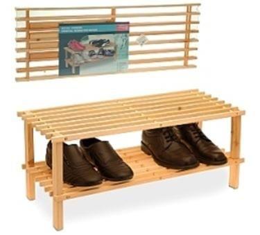 Деревянная подставка под обувь