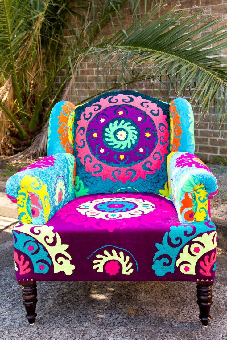 Tree of Life  Psychedelic Chair  h o m e b o d y  Funky home decor Bohemian furniture DIY