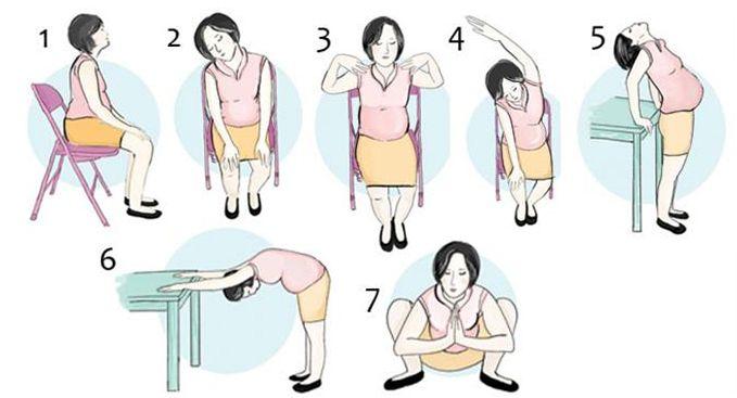 Duduk dalam waktu yang lama di belakang meja kerja dapat membuat ibu hamil menderita, akibat pegal-pegal di area sekitar leher, tangan, apalagi punggung. Untuk mengurangi rasa pegal tersebut, lakukan beberapa posisi yoga sederhana khusus ibu hamil yang bisa Anda lakukan di dekat meja kerja Anda.  Klik link di atas untuk info lebih lengkap