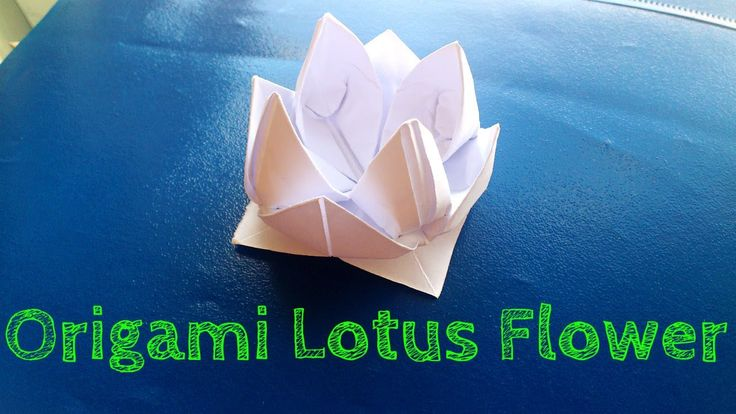 Origami flower is a very simple lotus model that you can learn how to fold. If you don't understand certain steps just ask me in the comments below. Also if ...