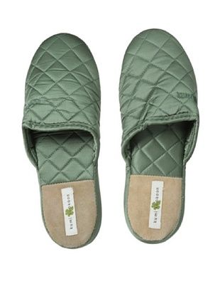 47% OFF Kumi Kokoon Quilted Silk Slippers (Moss)