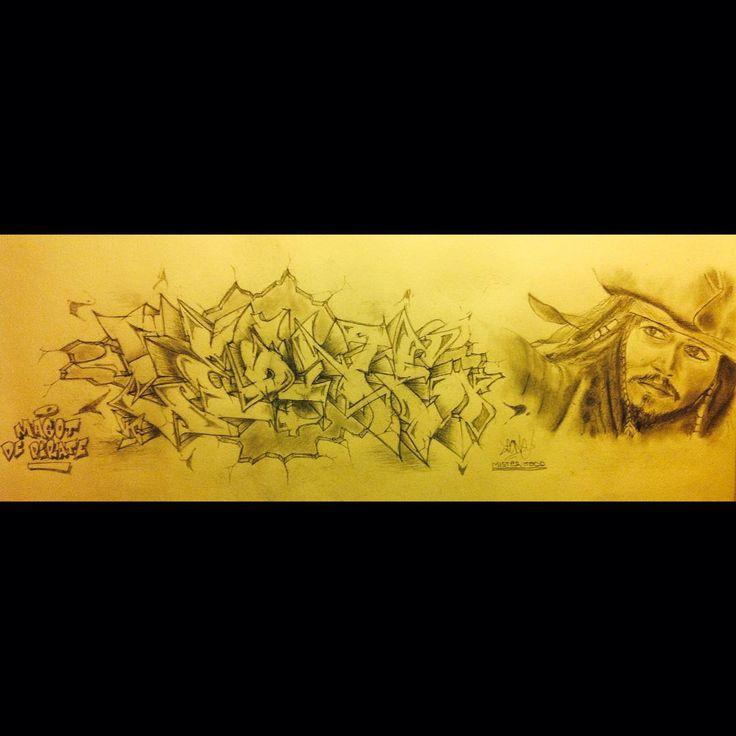 typographie graffiti Leone, 2015 #JackSparrow #Pirate #draw  https://www.instagram.com/leo.lpix/