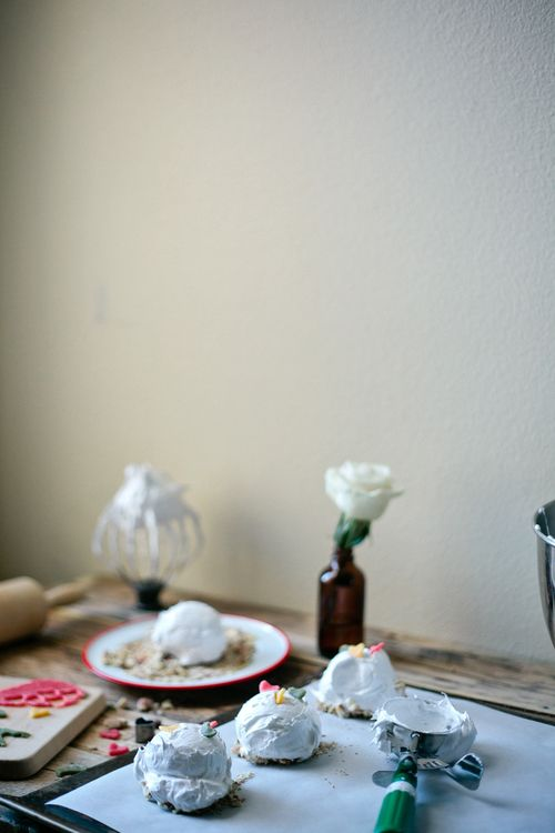 ottolenghi's perfect meringues with marzipan and toasted almonds | my name is yeh