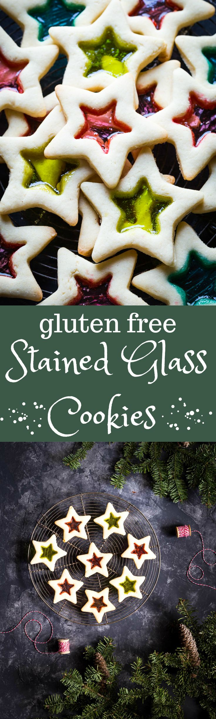 Absolutely gorgeous Gluten Free Christmas Cookies with Stained Glass. You can can make these with your kids, they are SO easy! | dairy free | gluten free | Christmas |