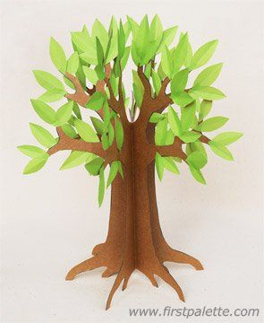3D Paper Tree Craft | Kids' Crafts | FirstPalette.com