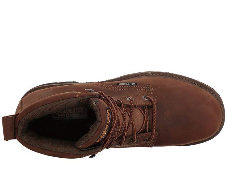 1b0e8ccfeea Carolina 6 Waterproof Work Boot CA9036 Men s Work Boots Mohawk RW Brown  Leather Upper