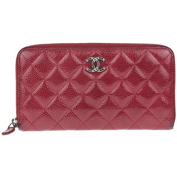 chanel zip pouch. chanel pre-owned red glazed calfskin quilted zip wallet (414974701) (31,720 thb pouch 7