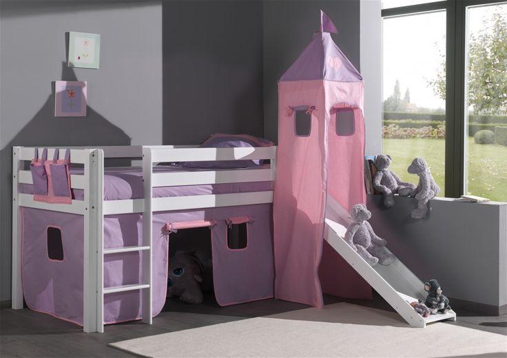 Lit toboggan chateau princesse discount - Comforium