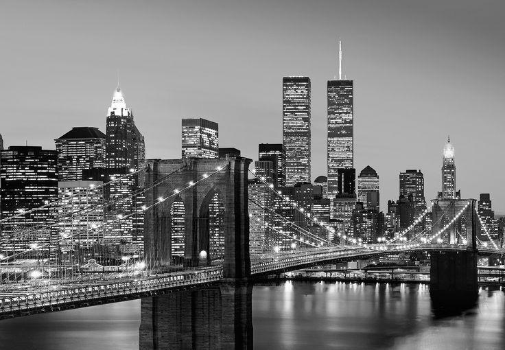 Wizard+Genius-Valokuvatapetti 00138 Manhattan Skyline at Night 8-osainen 366x254cm-2