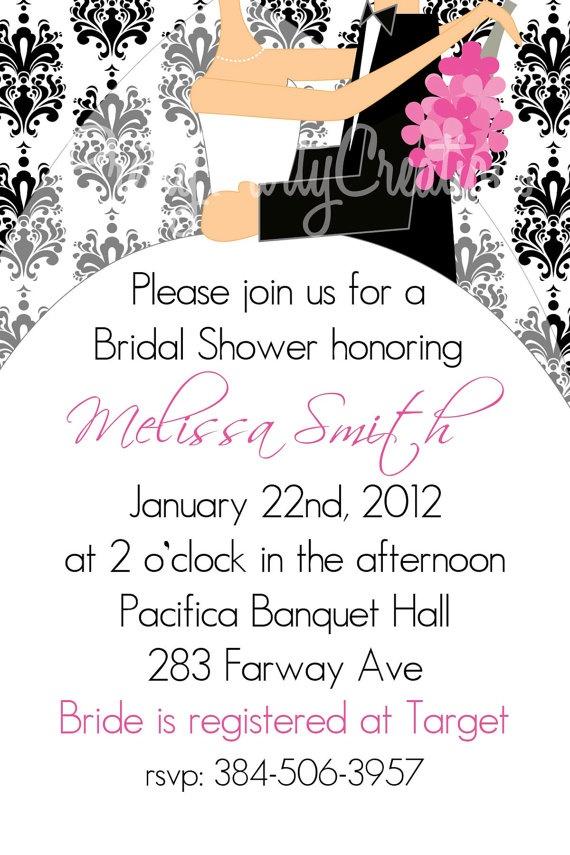 Elegant BRIDAL SHOWER invitation  YOU by PrettyPartyCreations, $11.50