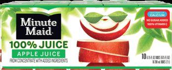Earn .75 cash back on Minute Maid® 100 Juice Box