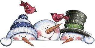 les drôles de bonhommes de neige
