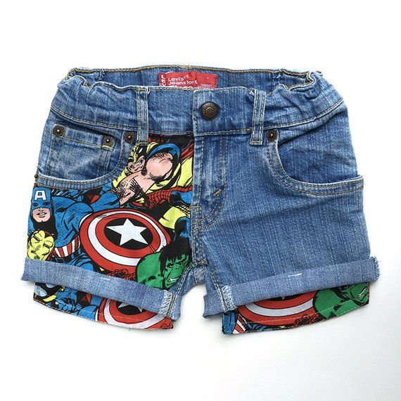 680eaf17a0 KIDS Super Hero Patched Jean Shorts, Marvel Patched Jean Shorts, Levis  Vintage Jean Shorts 2T- | Products | Patched jeans, Superhero kids, Jean  Shorts