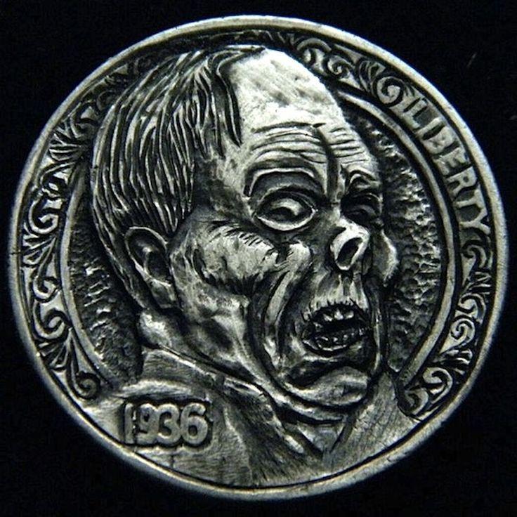ROBERT MORRIS HOBO NICKEL - THE PHANTOM OF THE OPERA - 1936 BUFFALO PROFILE