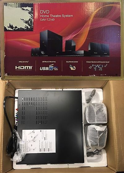 Home Theater Systems: Sony Dvd Home Theater System W/5.1Ch, 30W Per Ch, Dolby Digital Sound, Dav-Tz140 BUY IT NOW ONLY: $109.99