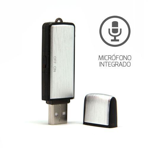 Pendrive Grabador De Voz Con 8gb, Graba 96 Horas De Audio
