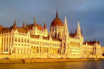 The magnificent Országház (Hungarian Parliament Building) with 24 towers and central dome. - See more at: http://travelcuriousoften.com/october13-feature.php#sthash.MFiNEcjz.dpuf