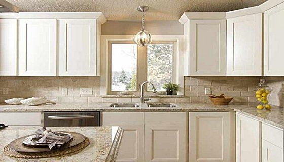 White Shaker Kitchen Cabinets Simple For The Laundry Room