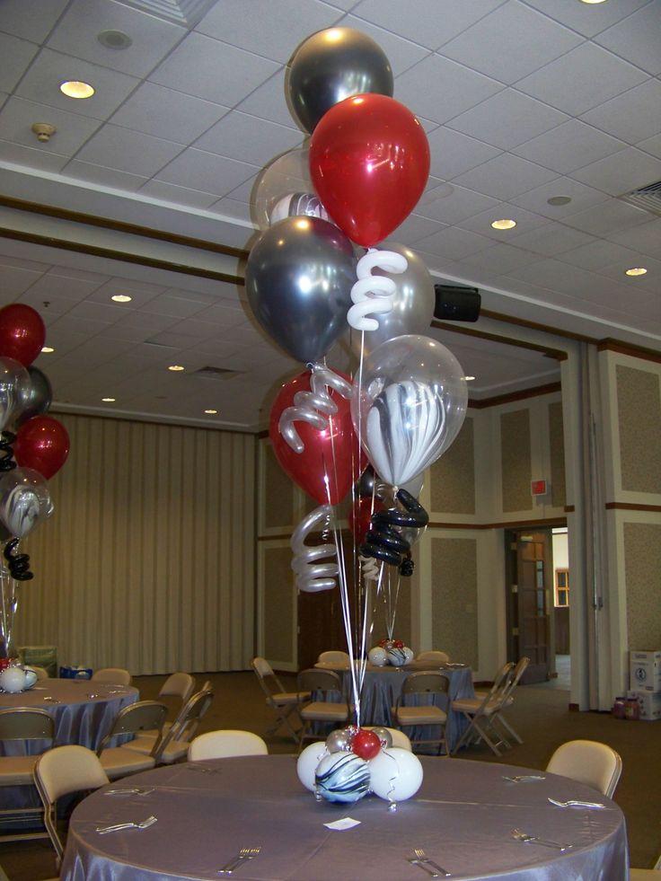 82 best helium balloon floor arrangements images on for Helium balloon centerpieces