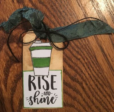 Handmade tag by Sierra W using the Rise and Shine digital set from Verve. #vervestamps