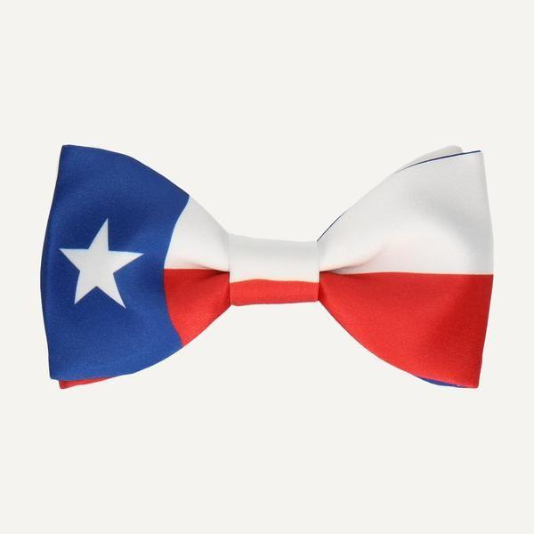 TEXAS STATE FLAG BOW TIE