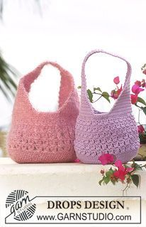DROPS Crocheted Purse in Muskat or Vienna, freebie pattern oh so summery! thanks so and love this yarn too xox