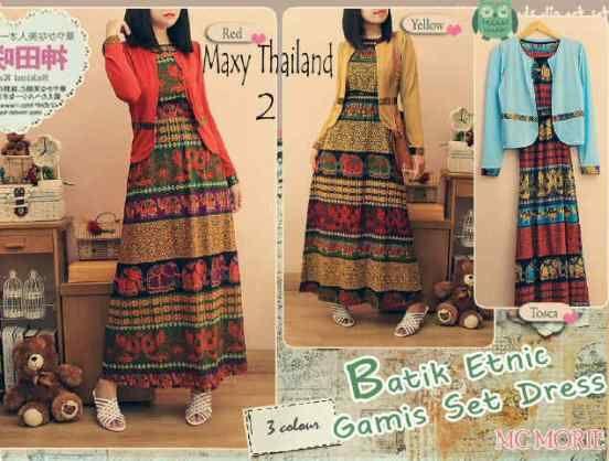 Busana Batik Modern Thailand Set Online - http://www.butikjingga.com/busana-batik-modern-thailand-set