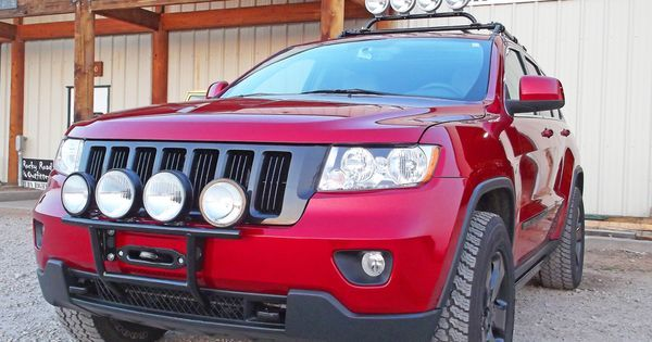 Rocky Road Outfitters custom hidden winch mount with optional accessories for 2011 Jeep Grand Cherokee.
