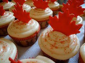 Cute idea for a dessert on Canada day