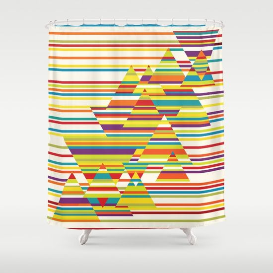 Harmony and Cacophony Shower Curtain