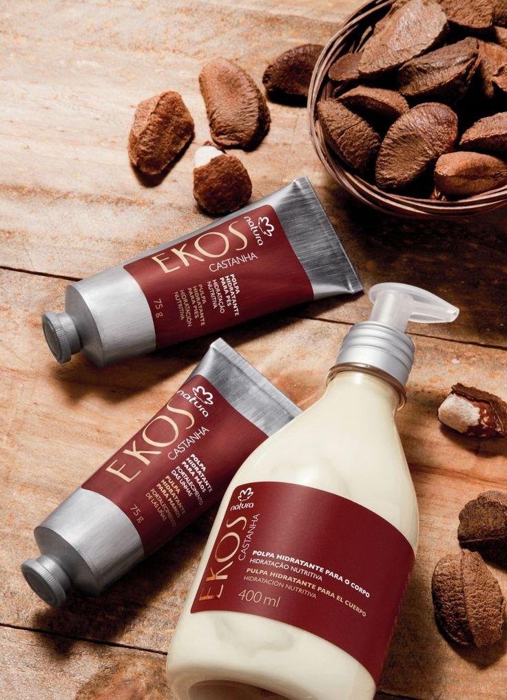Los productos de la línea castaña ofrecen fuerza, nutrición e hidratación intensa para la piel.