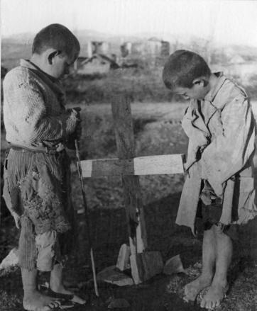 Orphaned children in Greece.  Date: ca. 1947