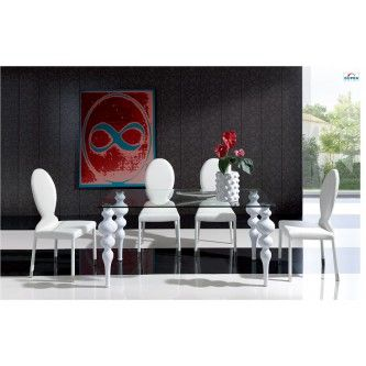 Dining Room Furniture Modern Dining Sets 767 Table And 1001 Chairs White