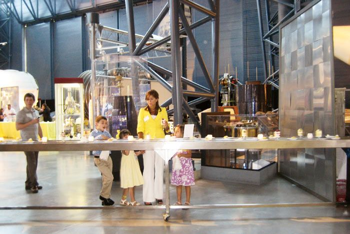 Occasions Caterers created a conveyor-belt buffet station for a 2009 screening of Transformers: Revenge of the Fallen in Washington.